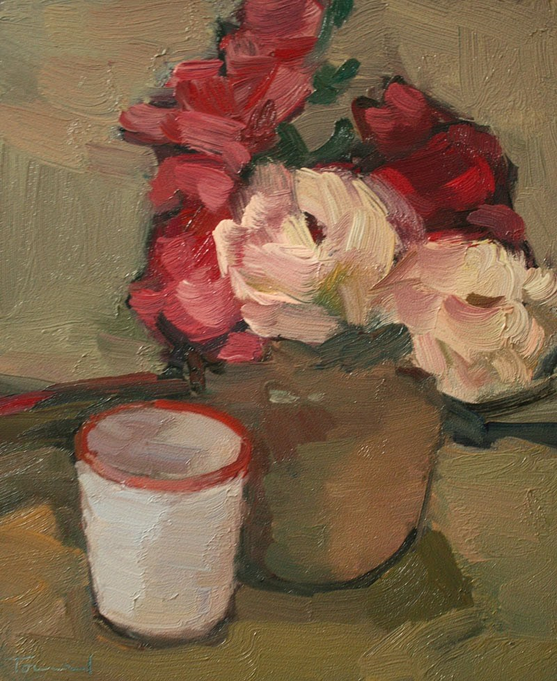 """Roses with Cup"" original fine art by Kathryn Townsend"