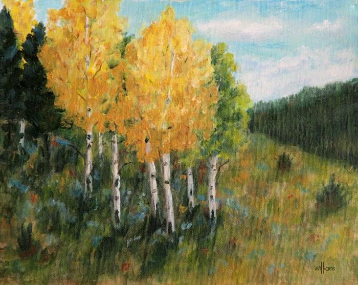 """Aspen Grove"" original fine art by Sunny Williams"