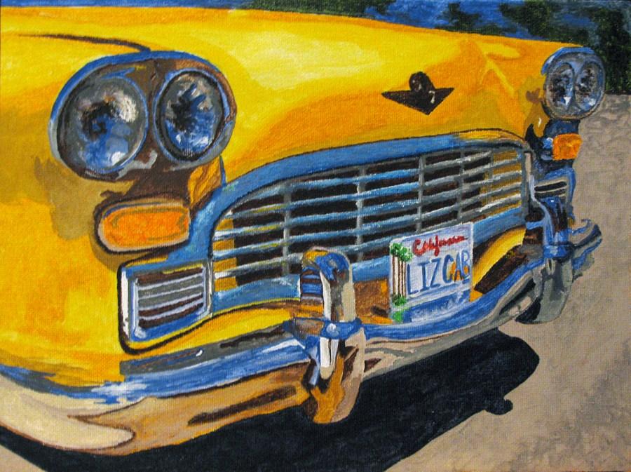 """Big Yellow Taxi"" original fine art by Nan Johnson"