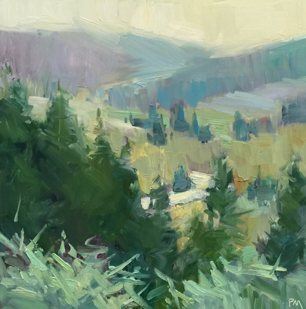 """A Pastel-Colored Pisgah"" original fine art by Patti McNutt"