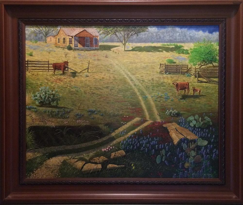 """Hill Country Home"" original fine art by Beau Crump"