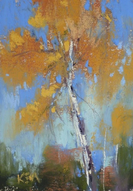 """Aspen Series Part 6 ....Trying Relaxed Playfullness"" original fine art by Karen Margulis"
