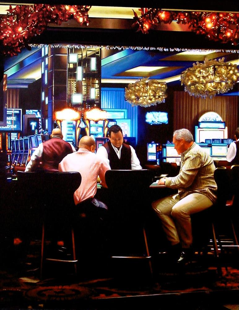 """Card Players- Painting Of Card Players In Las Vegas"" original fine art by Gerard Boersma"