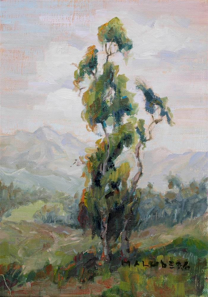 """Eucalyptus Warm Green"" original fine art by Cynthia Mahlberg"