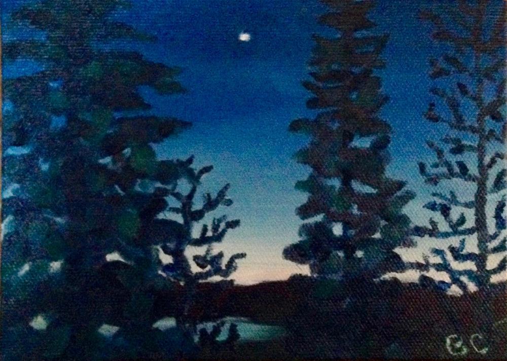 """""""Venus at dawn"""" original fine art by Bobbie Cook"""