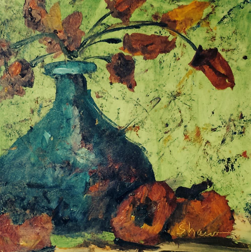 """Blue Vase Still Life 2"" original fine art by Shawn Deitch"