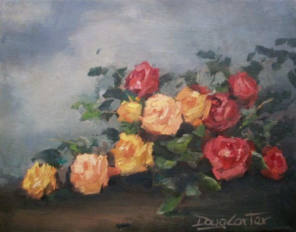 """ Antique Roses "" original fine art by Doug Carter"