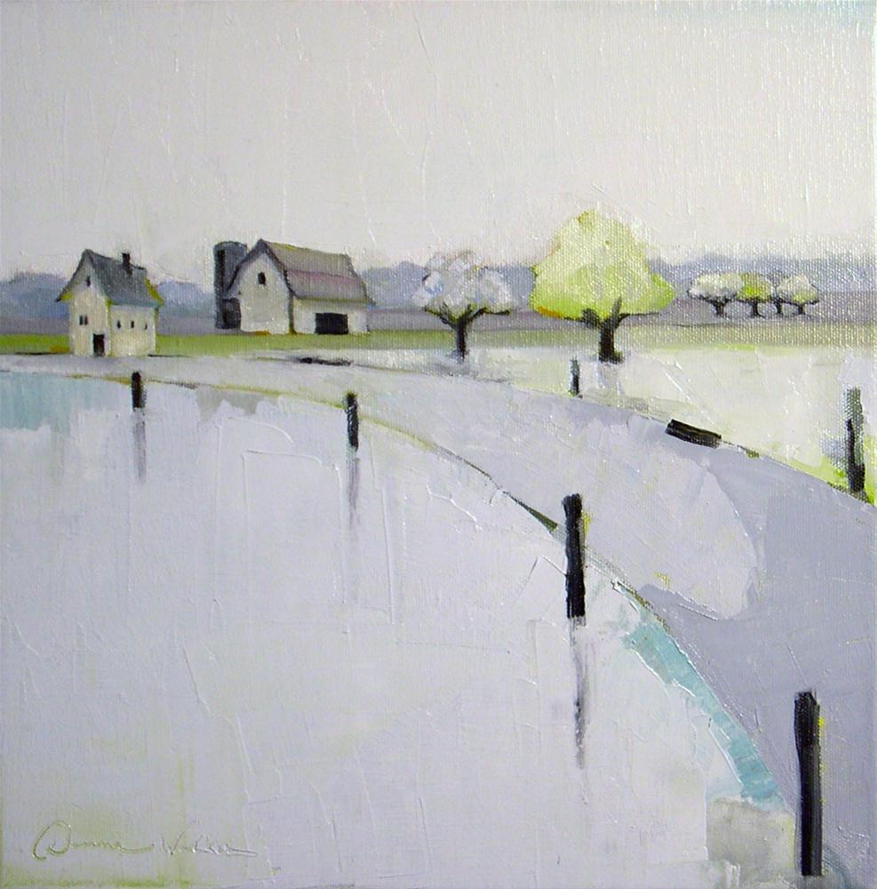 """Cool Gray Farm"" original fine art by Donna Walker"