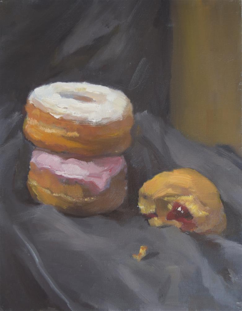 """""""doughnut"""" original fine art by Jingyi Wang"""