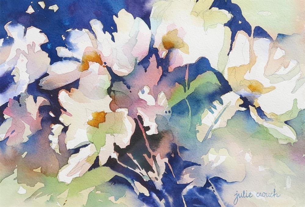 """Matilija Poppies"" original fine art by Julie Crouch"