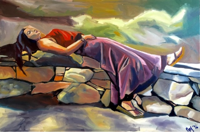 """On The Rocks"" original fine art by Piya Samant"