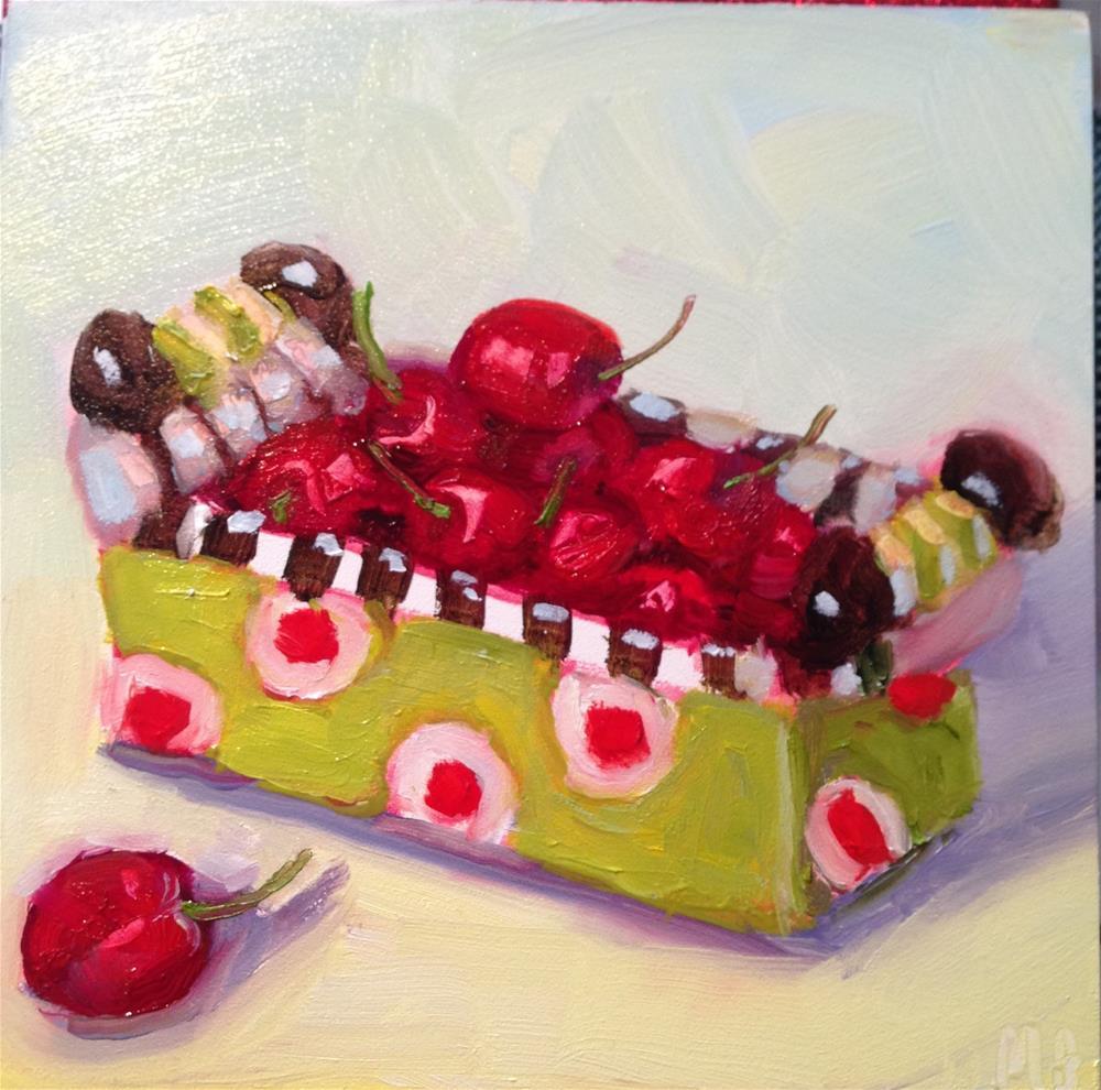 """""""Cherries Wasington Missed"""" original fine art by Marcia Bergtholdt"""