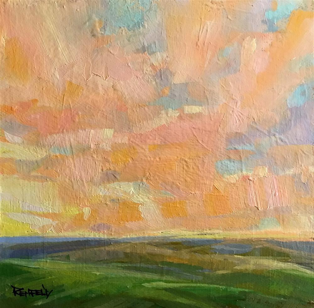 """Sunrise at Tom's Farm"" original fine art by Cathleen Rehfeld"