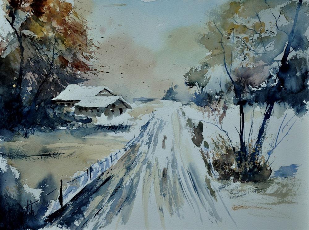 """""""watercolor 412182"""" original fine art by Pol Ledent"""