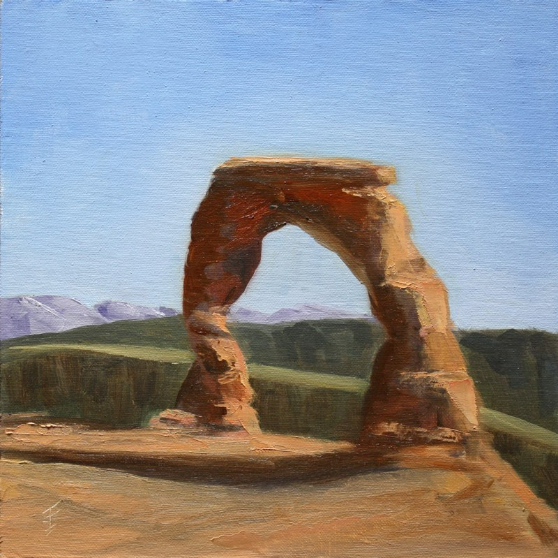 """Delicate Arch"" original fine art by Jane Frederick"