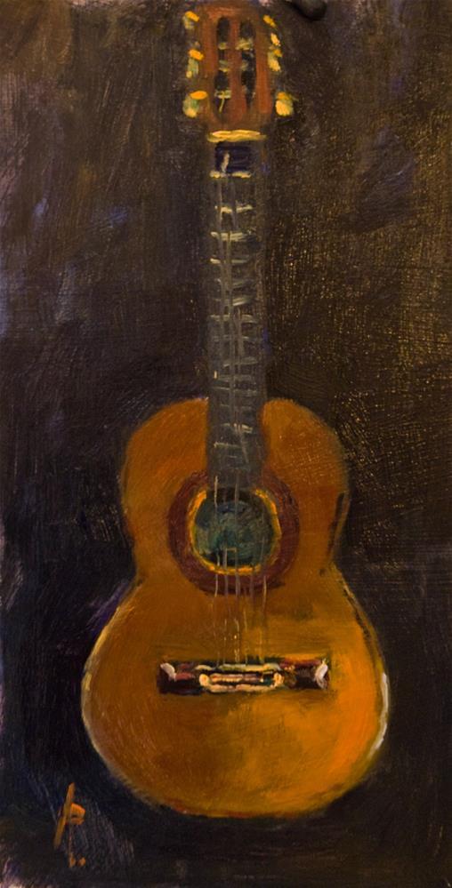 """Classical Guitar"" original fine art by Andre Pallat"