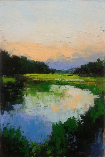 """Marsh, Flood Tide"" original fine art by Mary Gilkerson"