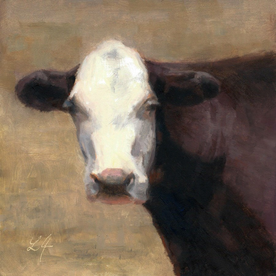 """Cow in the Meadow"" original fine art by Linda Jacobus"