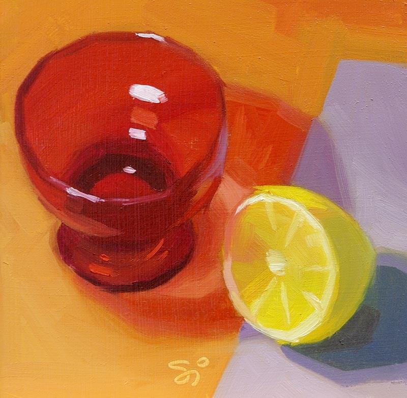 """""""Red Shadow 2"""" original fine art by Istvan Schaller"""
