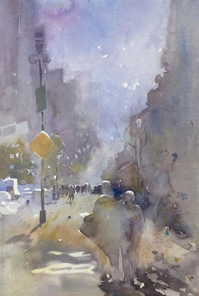 """""""Winter in Manhattan"""" original fine art by Julie Crouch"""
