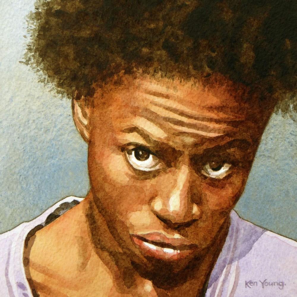 """""""Mugshot #3"""" original fine art by Ken Young"""