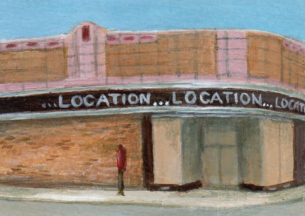 """On the Corner"" original fine art by Debbie Shirley"