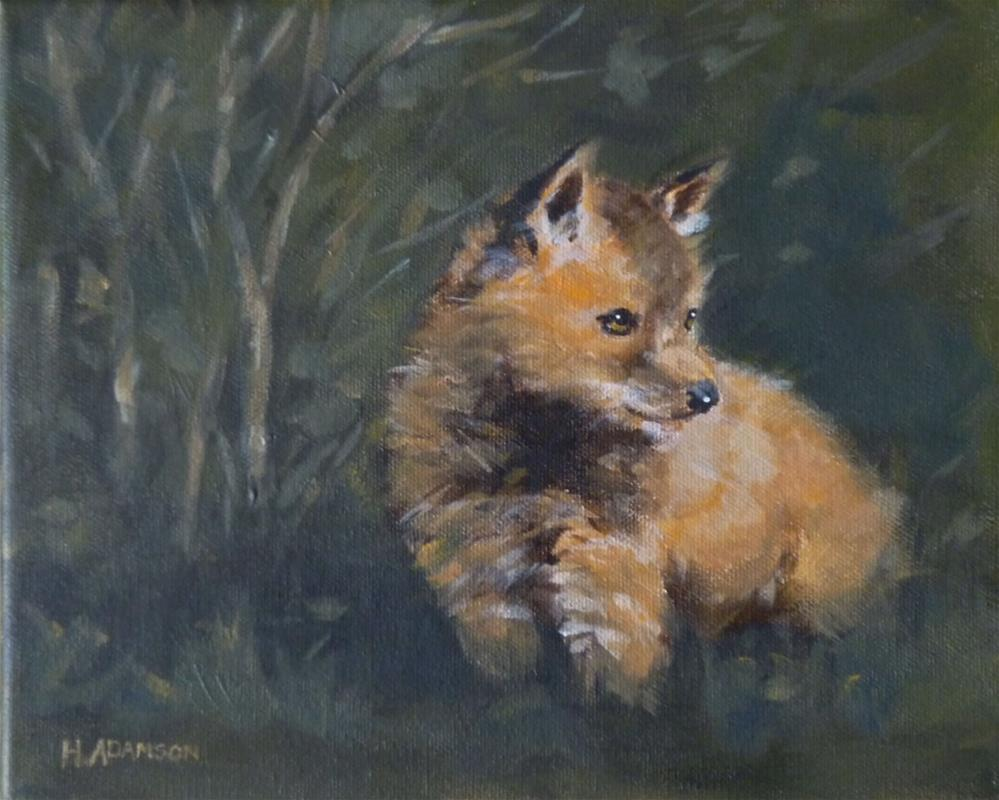 """Little Fox"" original fine art by Helene Adamson"