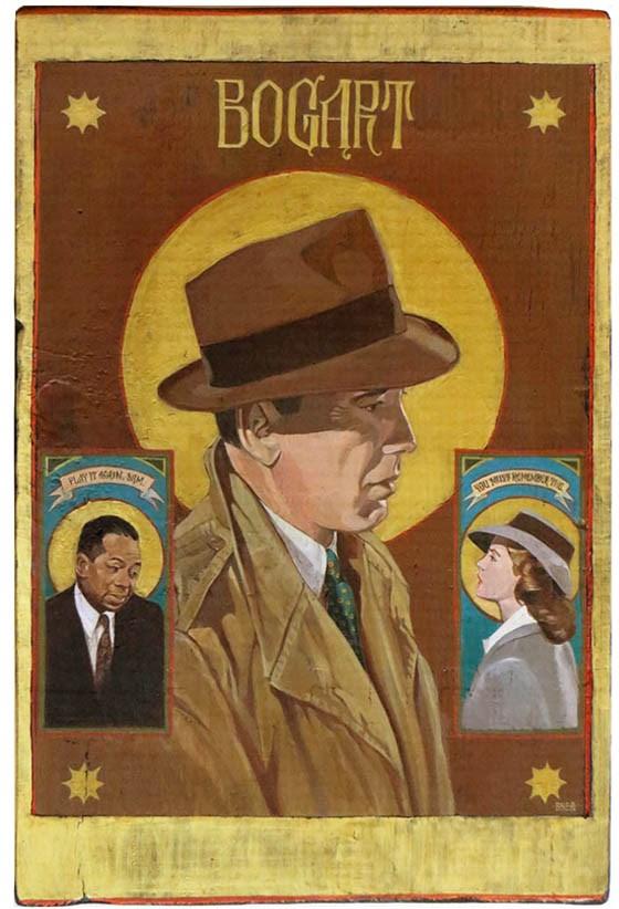 """""""Bogart- Hollywood Icon"""" original fine art by Shawn Shea"""