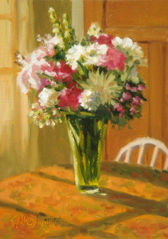 """Birthday Bouquet"" original fine art by Erin Dertner"