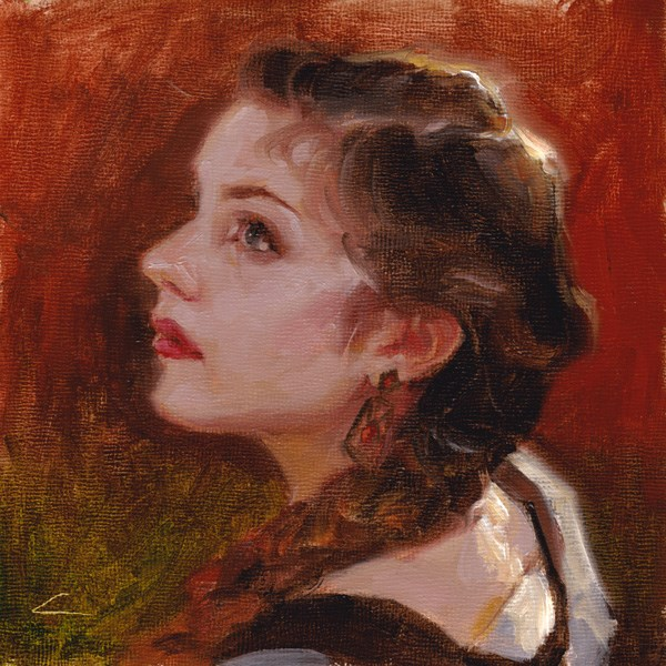 """Bonny"" original fine art by John Larriva"