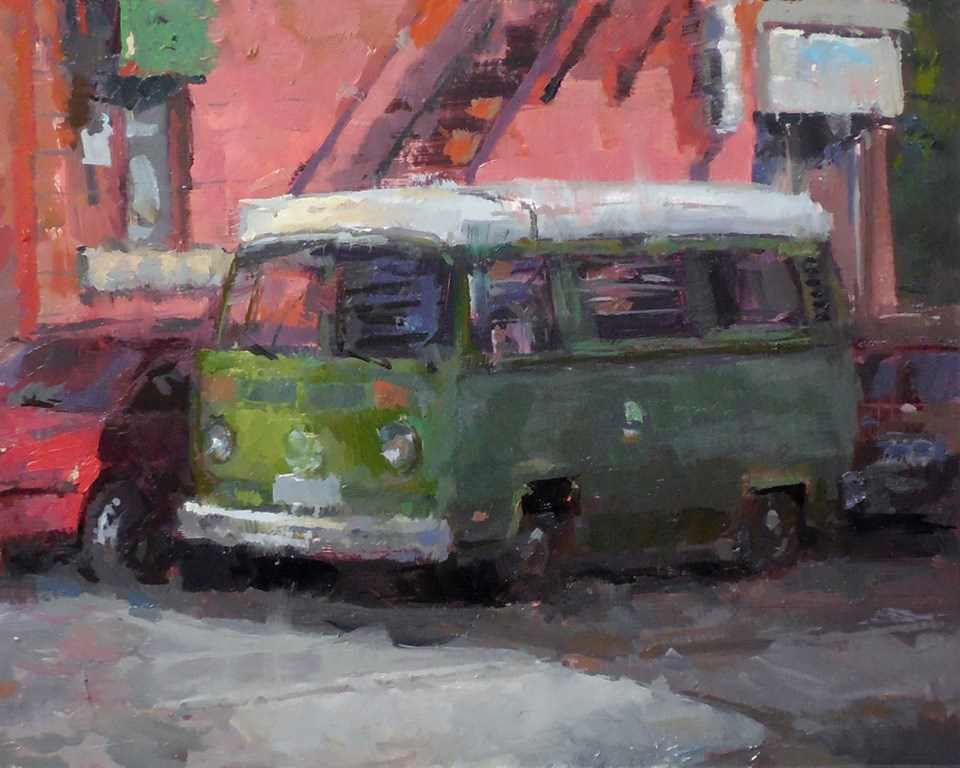 """Funky Camper"" original fine art by Michael Pieczonka"