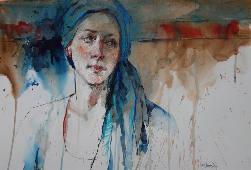 """""""Blue Textures"""" original fine art by Lorraine Lewitzka"""