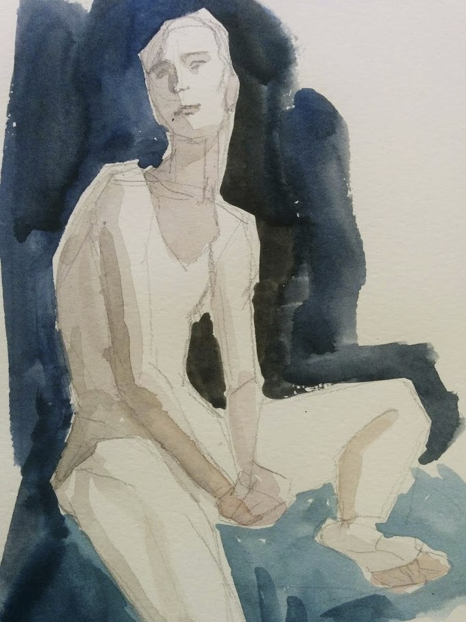 """Magda Seated"" original fine art by Natalie Fruciano"