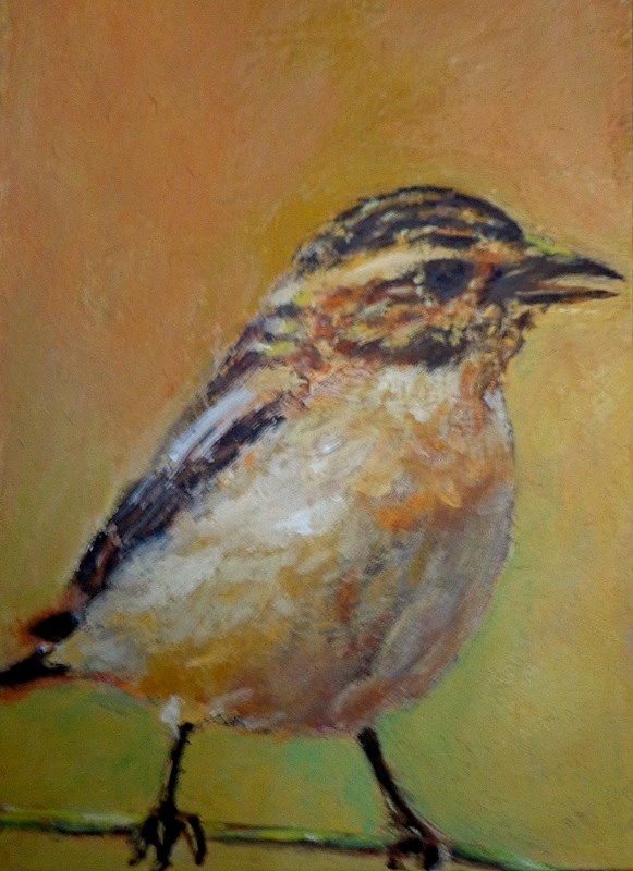 """Bird"" original fine art by Maria Z."