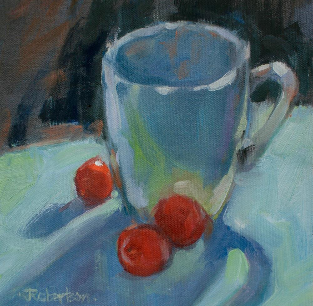 """Coffee and Cherry Tomatoes"" original fine art by Jane Robertson"