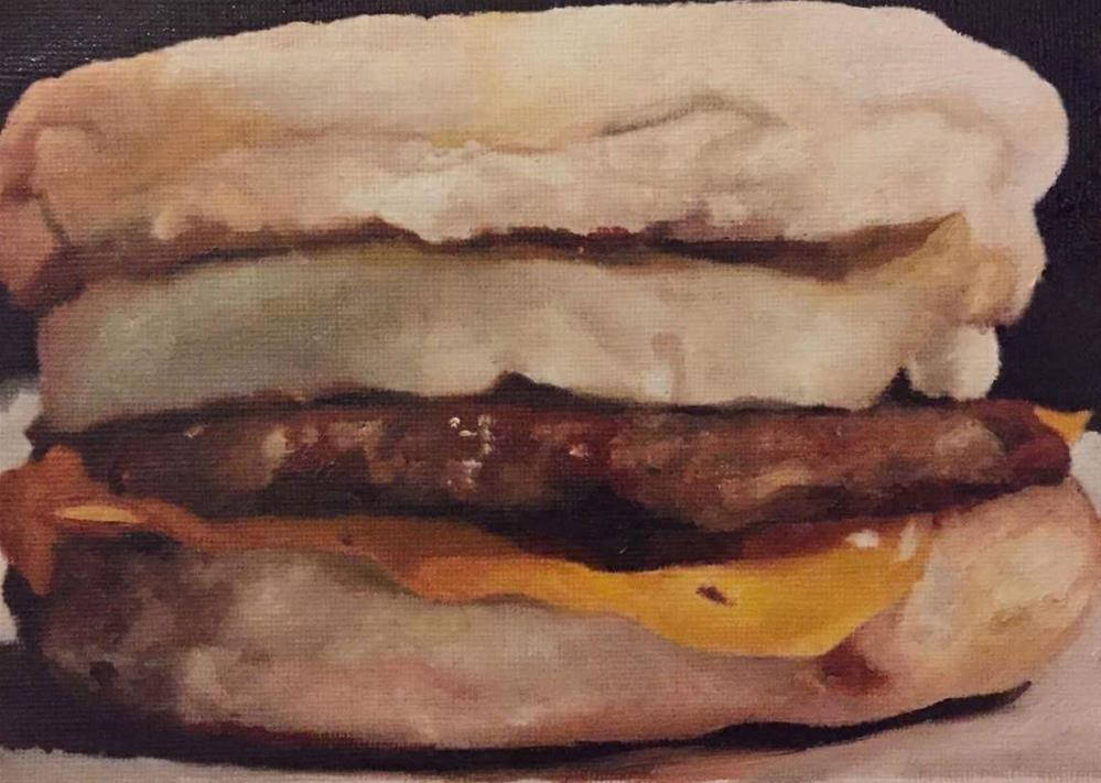 """The McMuffin"" original fine art by John Cameron"