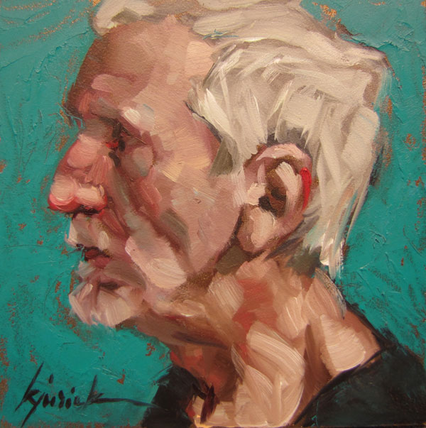 """200 Faces, No. 106"" original fine art by Karin Jurick"