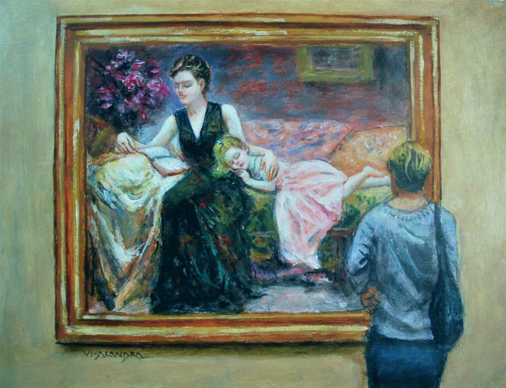 """museum visitor18"" original fine art by vishalandra dakur"
