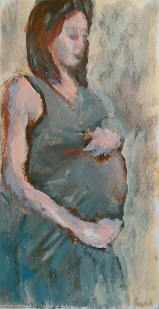 """Expecting: Small study"" original fine art by Ann Rudd"