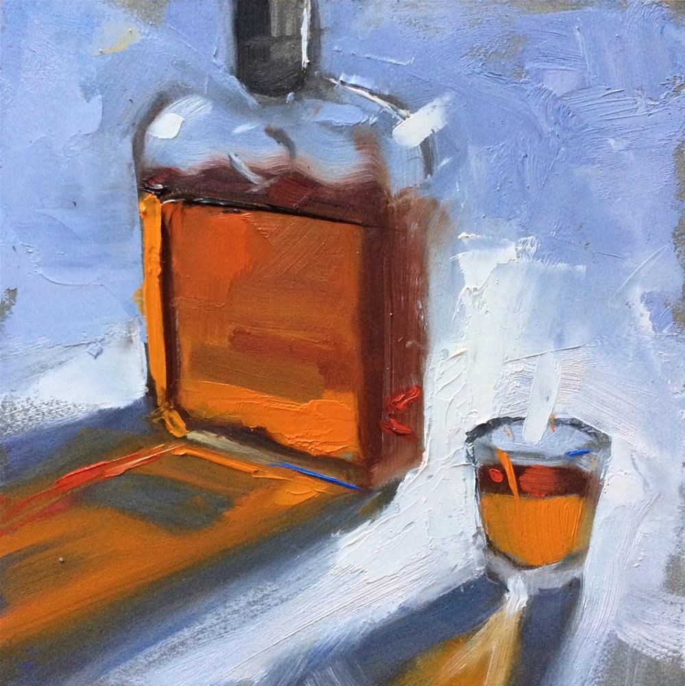 """Woodford (#24) 6in x 6in  oil"" original fine art by Claudia Hammer"
