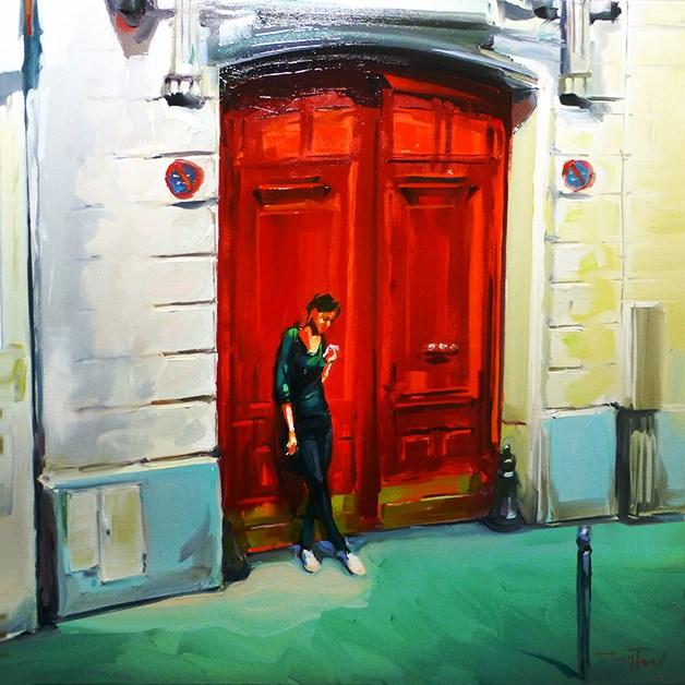 """""""rauchende"""" original fine art by Jurij Frey"""