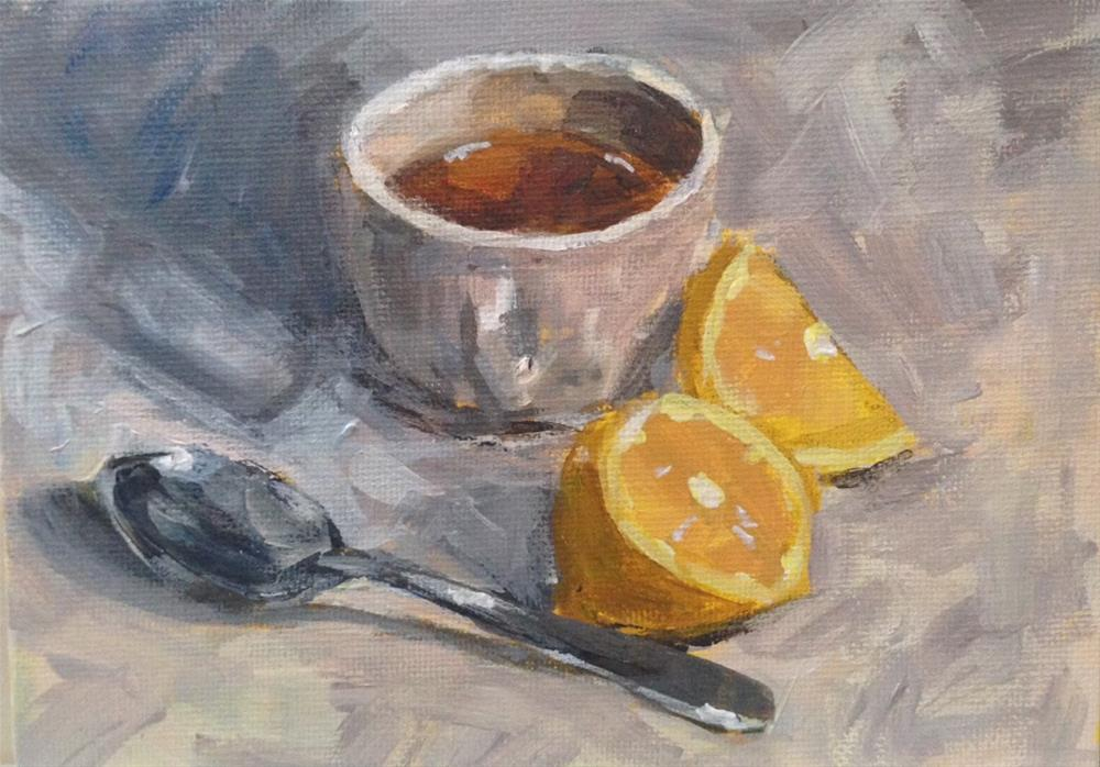 """Tea With Lemon"" original fine art by Shannon Bauer"