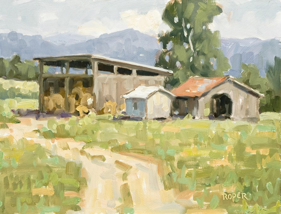 """DAY 4 - The Hay Shed"" original fine art by Stuart Roper"