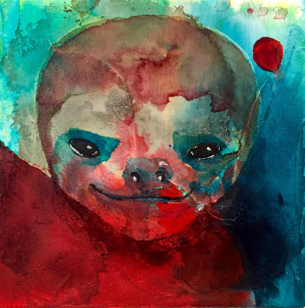 """#52 Keep Smiling"" original fine art by Silke Powers"