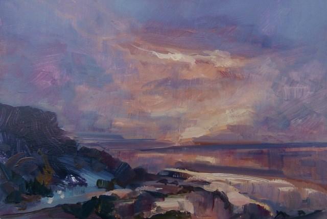 """""""Ebb tide, Evening around Cromer"""" original fine art by Anne Wood"""