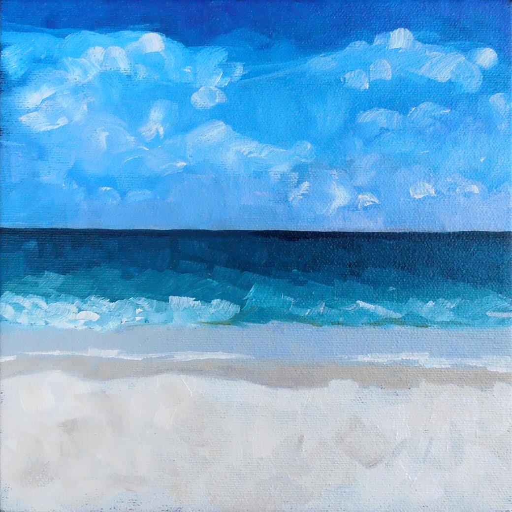 """""""#29 - Beach Study"""" original fine art by Elizabeth Dawn Johnston"""