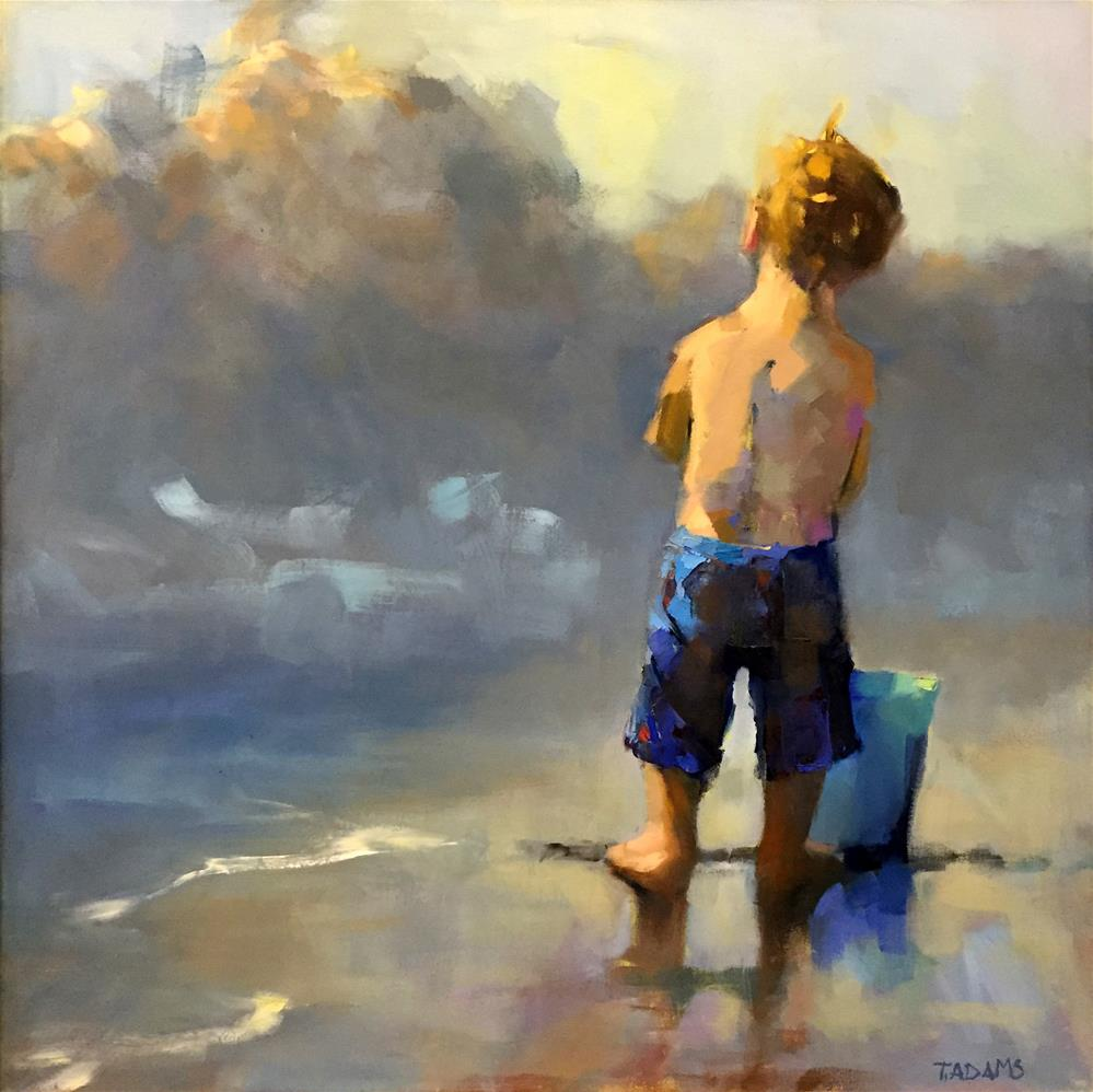 """Blue Pail"" original fine art by Trisha Adams"
