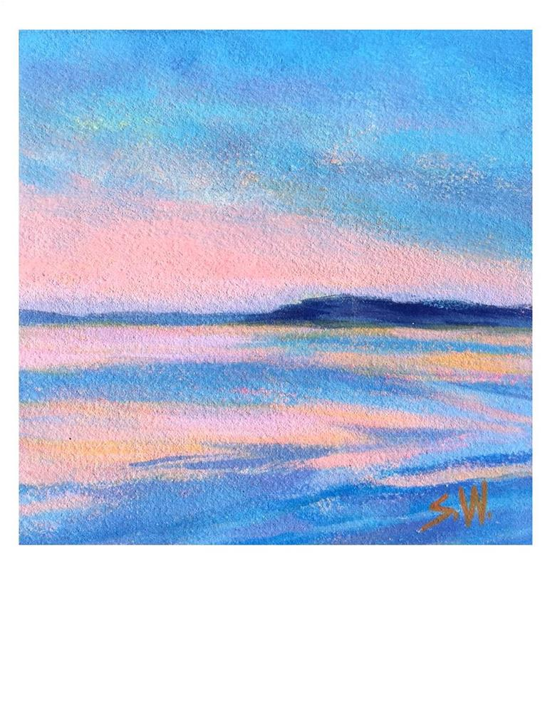 """Blue And Pink"" original fine art by Suzanne Woodward"