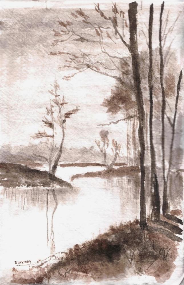 """Landscape study"" original fine art by Daniel Varney"