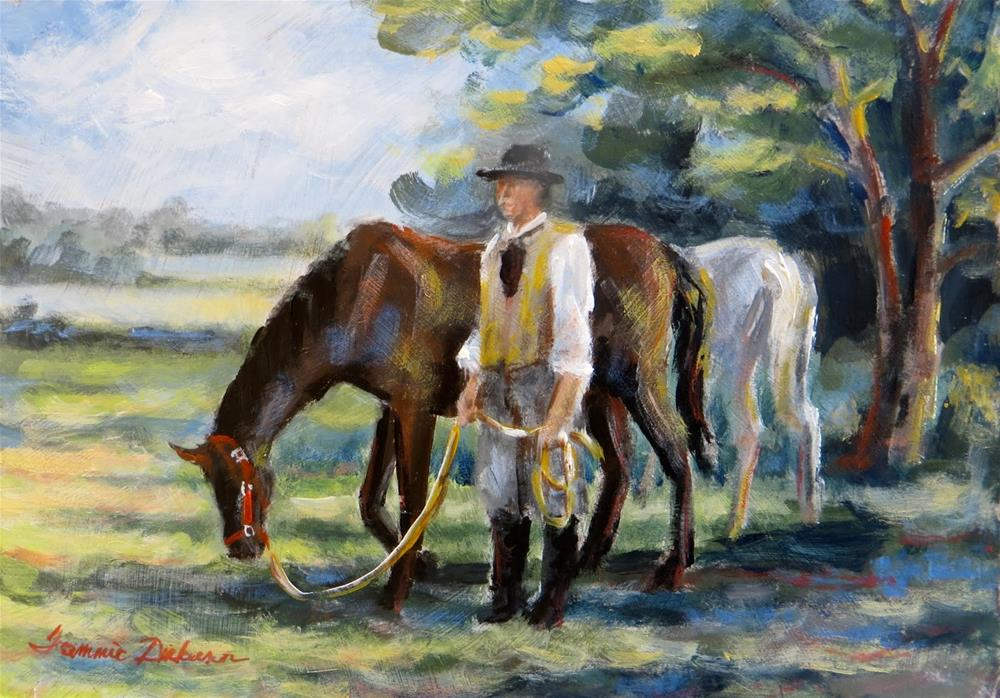 """After the Ride"" original fine art by Tammie Dickerson"